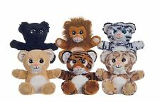 7 1/2'' Wildlife Cuddley Toy with Sparkle eyes Plush Soft Toy  6 Assorted