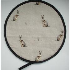 Aga Range Hob Hat Lid Mat Cover with Loop Cook Pad Fryetts Hartley Hare Rabbits