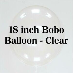 "18"" Clear BOBO Balloons Transparent Wedding Birthday Xmas Party Decor Stuffing"