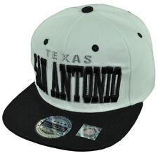 San Antonio Texas Snapback Flat Bill City State Town TX White Black Hat Cap