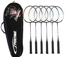 Sportime Replacement Badminton Racquets, 26 Inches, Assorted Colors, Set of 6