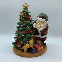 Collectible Santa Music Box Delivering Presents Large Resin Christmas Decor 12in