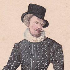 Bourgeois Règne Henri IV Costume Col Collerette Fraise Pourpoint XVIIe siècle