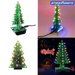 DIY Christmas Tree LED Flash Kit Rotating Colorful Music Play Remote
