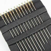 Lot 48x Self-Threading Sewing Needle - ASSORTED SIZES - EASY THREAD- Big Eye Set