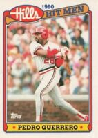 1990 Topps Hills Hit Men Baseball #6 Pedro Guerrero St. Louis Cardinals