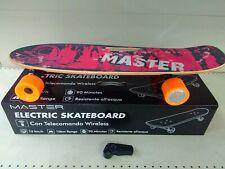 MASTER Skateboard elettrico 18 Km/h 10Km Ricaricabile Viola - SkateWood