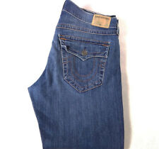 Men's True Religion jeans 36 x 28.5 (tag 34) Ricky Relaxed Straight Leg Blue