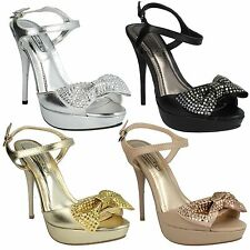 """Spot on Women's Synthetic Stiletto Very High Heel (greater than 4.5"""") Shoes"""
