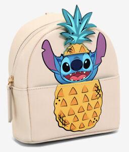 Disney Danielle Nicole Lilo And Stitch Pineapple Mini Backpack Wristlet Bag