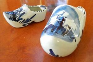 VINTAGE Delft Holland Hand Painted Ceramic Dutch Clog Ashtrays-No.463-No 46