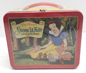 Disney Hallmark Sealed Little Metal Lunch Box School Days Snow White~New