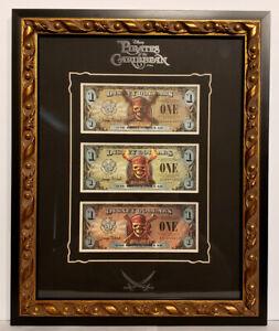 2007 Pirates of the Caribbean Disney Dollars Framed Set