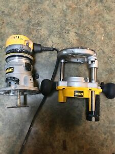 DEWALT Router Kit 2 1/4 HP 12 Amp Plunge and Fixed Base Variable Speed 8 to 24k