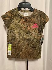 Mossy Oak Brush Girl's Youth S,M,L Short Sleeve Camouflage Tee Shirt NWT