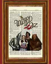 Wizard of Oz Dictionary Art Print Picture Poster Dorothy Tinman Lion Scarecrow