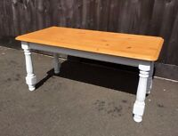Pine Farmhouse Cottage Style Coffee Table refurbished