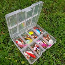 10 x Pêche Spinners Leurres Truite Bass Brochet Saumon Filateurs en clair Tackle Box