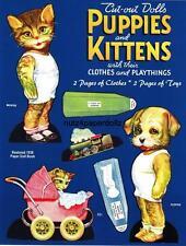 Vintge 1939 Puppies Kitten Paper Doll ~Flo Salter Cute Laser Repro~Org Sze Uncut