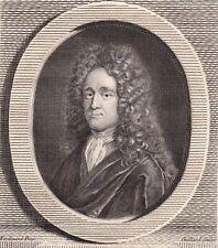 Portrait XVIIIe André Dacier Philologue Traducteur Bibliothécaire Du Roi 1786
