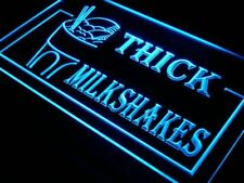i210-b OPEN Thick Milkshakes Cold Drink Cafe Light Sign