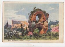 Roma Colosseo Visto Dal Palatino Italy Vintage U/B Postcard 102b