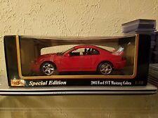 1/18 2003 mustang cobra svt red new in box vhtf
