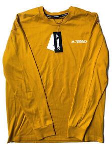 Adidas Terrex Explore Longsleeve T-Shirt Gold GE9933 Size Medium / Sample