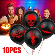 10pcs Halloween Balloons Spooky Decoration Black Red Skull Grimace Blood Palm