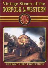 Vintage Steam of the Norfolk & Western DVD NEW 1940-1950s VA NC N&W WV MD