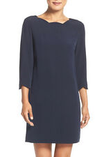 CeCe by Cynthia Steffe Leslee 3/4 Sleeve Scallop Neck Dress - Size 4 $128