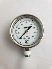 "= Trerick Pressure Gauge 160 PSI Oxygen Use No Oil New Old Stock 2-1/2"" Diameter"