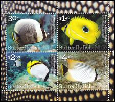 NIUE - 2017 - Miniature Sheet: Butterfly Fish of Niue. Mint NH