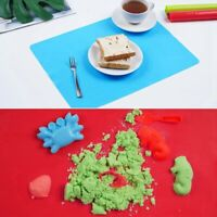 3 Pieces of Silicone Mat Suitable for Handicraft Food Silicone Placemat Non B5E1