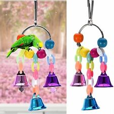 Ring Bell Funny Chain Swing Toy For Parrot Bird Toys String Suspension Bridge