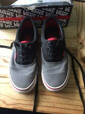 Vans Era. Tri Tone. Charcoal Grey Black Red Size 5 . Mens/ Womens. Boxed. Used.