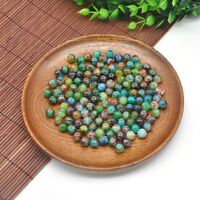 30Pcs 8mm Double Color Glass Pearl Round Spacer Loose Beads Jewelry Making