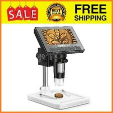 Coin Microscope Magnification Lcd Digital Adjustable Plants 8 Led Lights 43