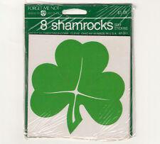 Vintage Hallmark St Patrick's Day Clover Sticker Package - 8 Shamrock Stickers