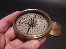 "Vintage Antique Style 3"" Brass Heavy Maritime Navigational Compass"