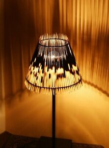 Porcupine quill bedside lampshade with STUNNING lighting effect! Quirky/unusual!