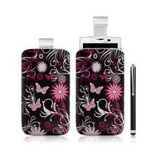 Housse coque étui pochette pour Sony Ericsson Xperia X10 avec motif + Stylet lux