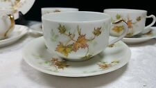 Haviland & Co. Limoges MAPLE LEAF Cup & Saucer Set (s) Smooth Fall Autumn