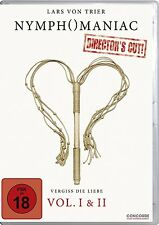 NYMPHOMANIAC Vol. I & II Uncut LARS VON TRIER Charlotte Gainsbourg 2 DVD Box NEW