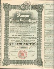 BANQUE BELGO-HELVÉTIQUE (BELGIQUE SUISSE ARGENTINE) (N)