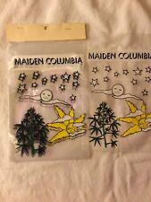 """Vintage Unused Lot of 20 plastic bags """" Maiden Columbia"""" Marijuana"""