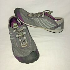 MERRELL Barefoot Women's 9.5 Pace Glove Dark Shadow Lock Laces Running Shoes