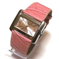 Pacific Time Damen Armbanduhr rosa Uhr Damenuhr Damenarmbanduhr Leder TOP