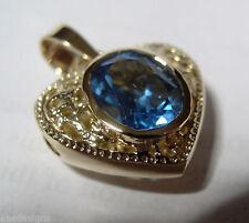 Blue Lab-Created/Cultured Fine Necklaces & Pendants