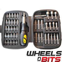 45pcs Ratchet Screwdriver Tool Kit Set Ratcheting Handle Pozi Torx  Hex Sockets